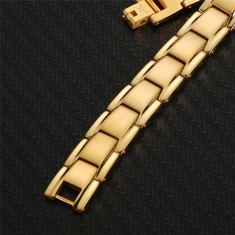 Bratara barbati MYSTYLE Classic Gold otel inoxidabil