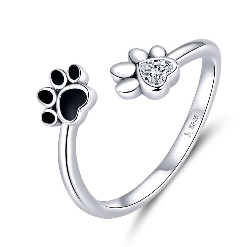 Inel Argint Femei Dog Love