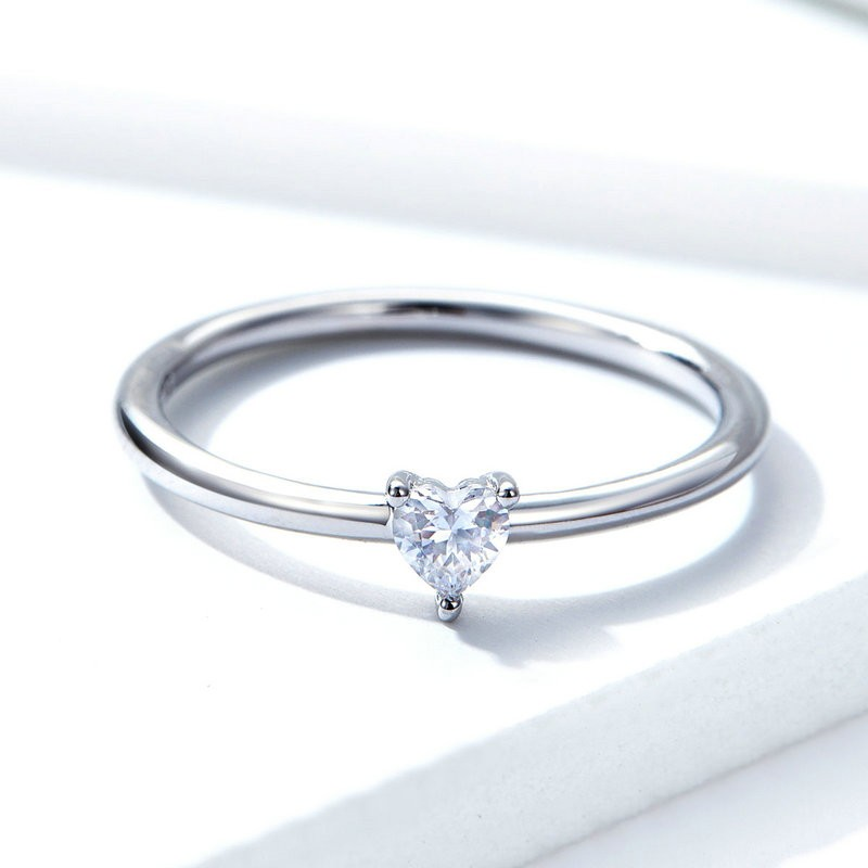 Inel Logodna Argint Crystal Zirconiu