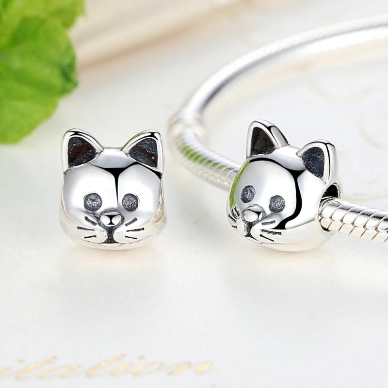Charm Argint Pandora Cat
