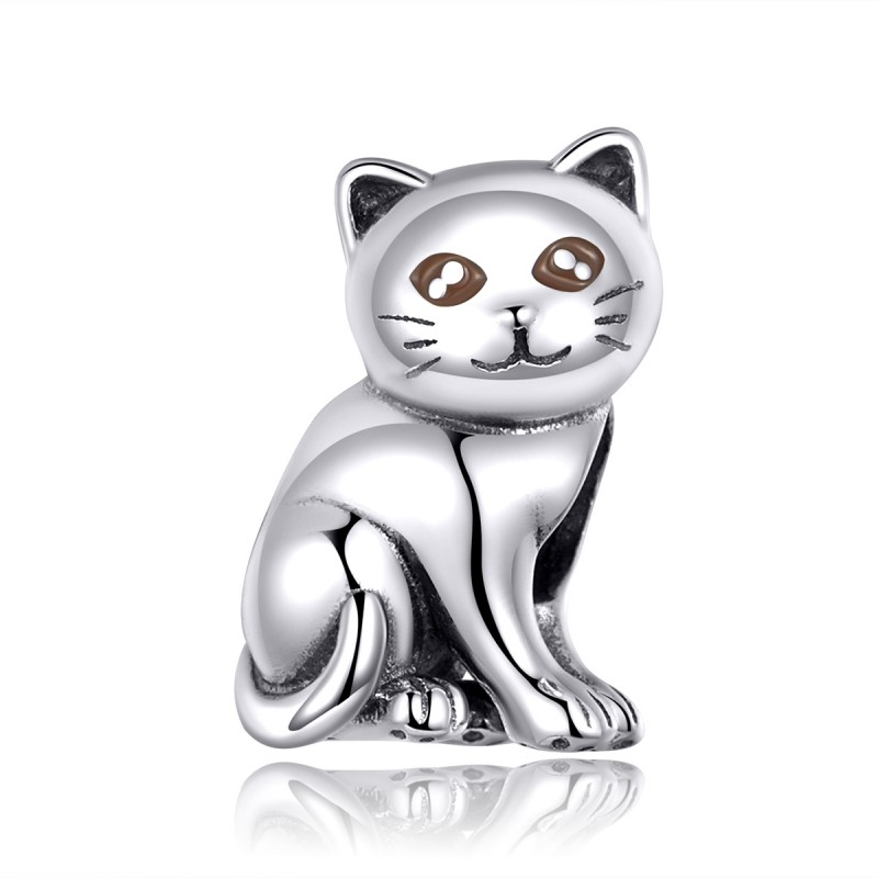 Charm Argint Pandora Lovely Kitty