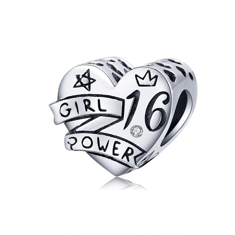 Charm Argint Pandora Girl Power