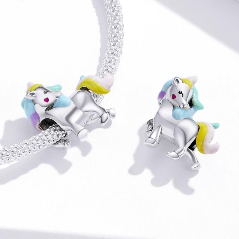 Talisman Argint Pandora Calut Colorat