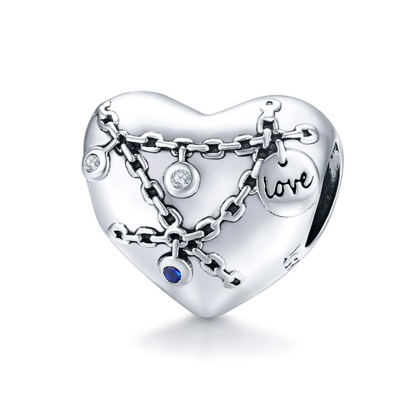 Talisman Argint Pandora Inima Lacat