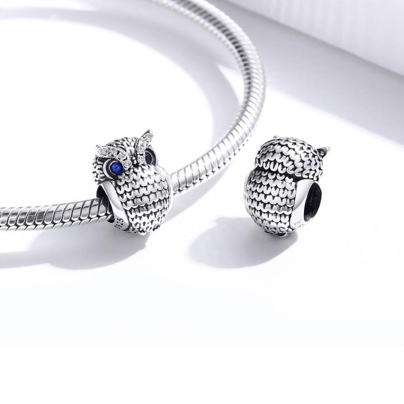 Charm Argint Pandora Owl