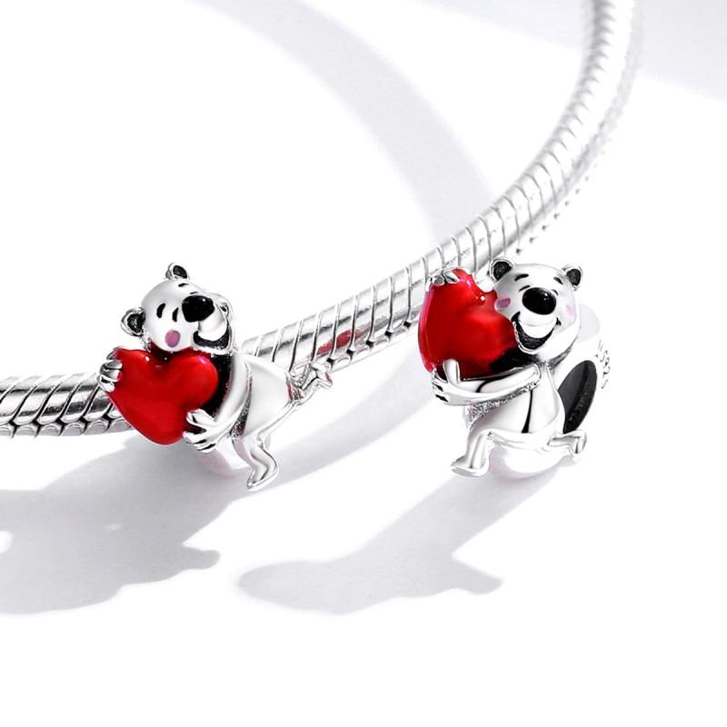 Charm Argint Pandora Inima Teddy Bear