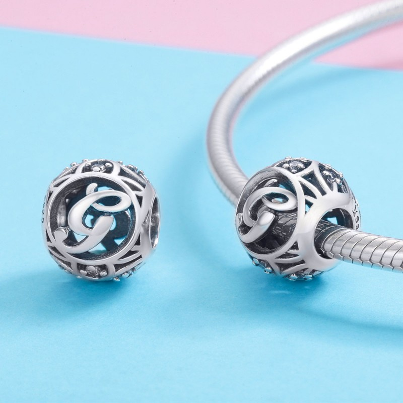 Charm Argint Litera G Pandora