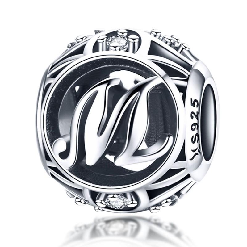 Charm Argint Litera M Pandora