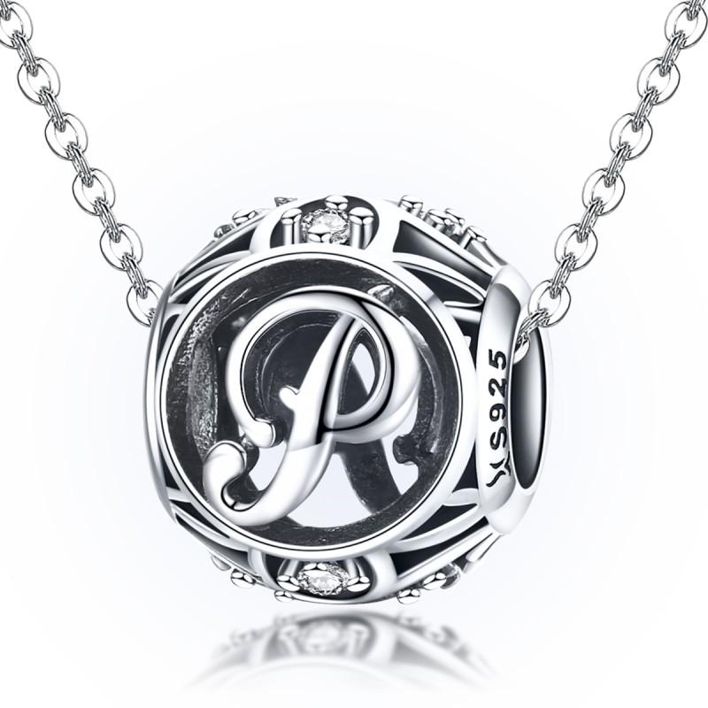 Charm Argint Litera P Pandora