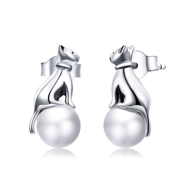 Cercei Argint Perle