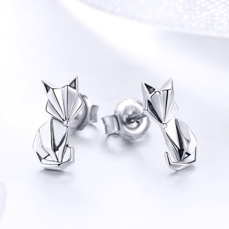 Cercei Argint Model Animal Fox