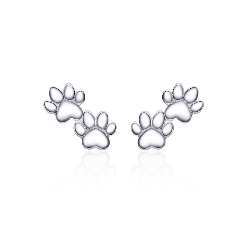 Cercei Argint Animal Footprints