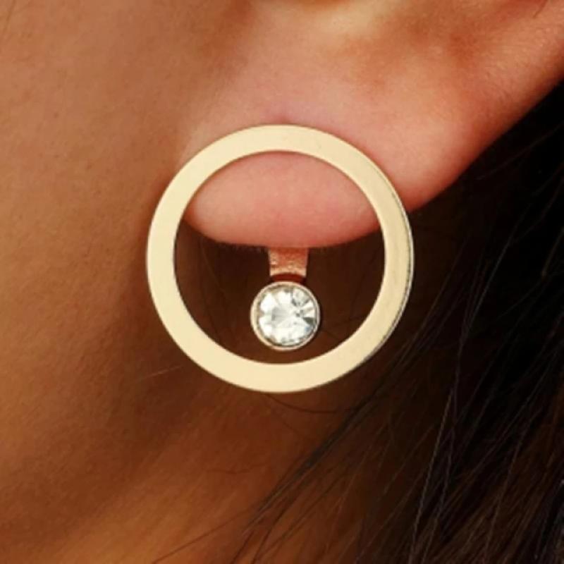 Fashion Earrings Cerc Auriu