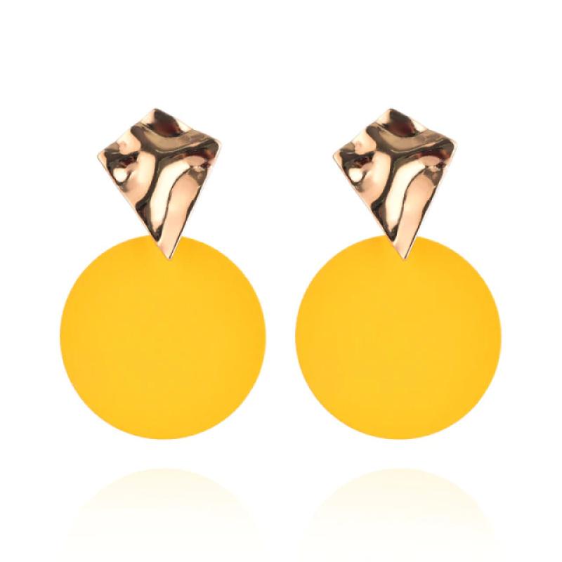 Fashion Earrings Funky Gold&Yellow