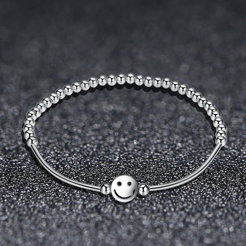 Bratara Argint Smiley Face