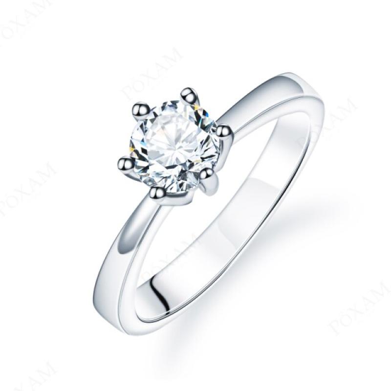 Fashion Ring Crystal Zircon Simple Shine 17mm