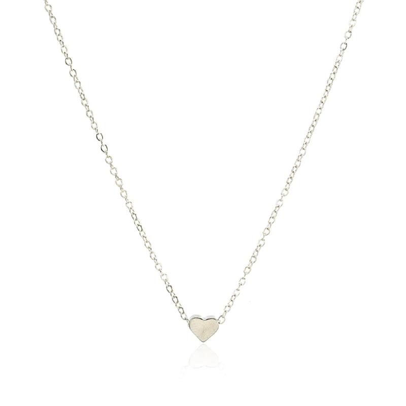 Fashion Pandativ Simplu Inima cu lant Argintiu