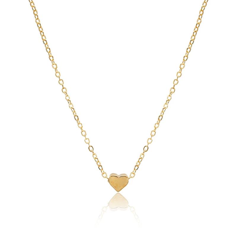 Fashion Pandativ Simplu Inima cu lant Auriu