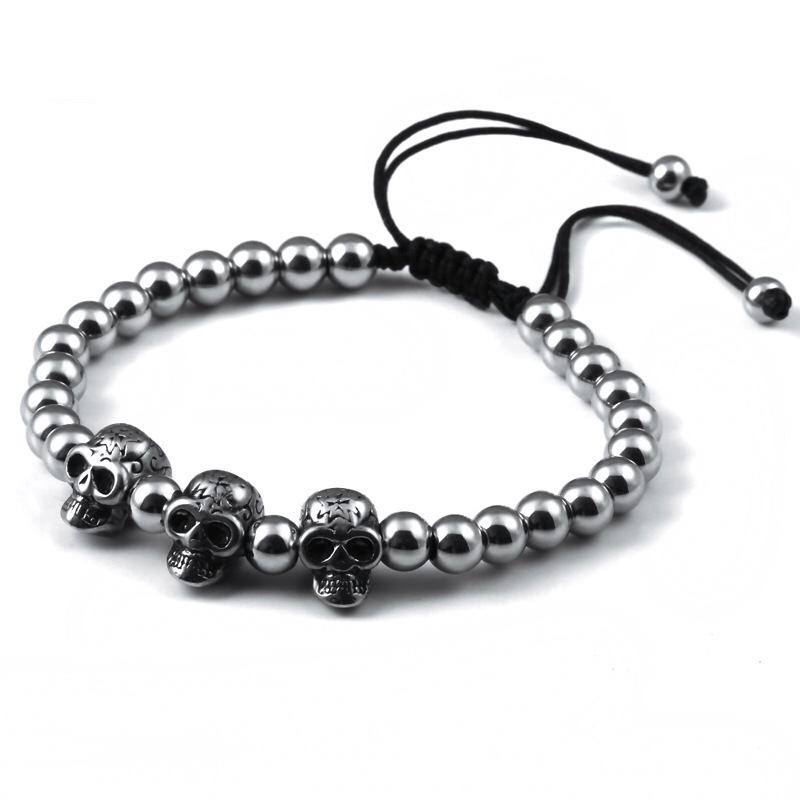 Bratara barbati MYSTYLE Skull Bangle