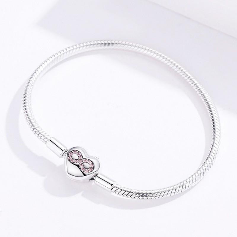 Bratara argint Mystyle Infinity Heart tip Pandora