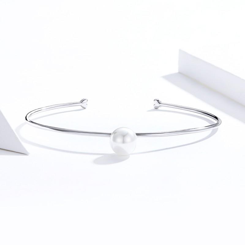 Bratara argint Mystyle White Pearl